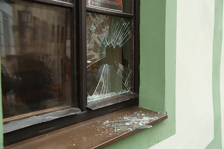 A2B Glass are able to board up broken windows while they are being repaired in Lancing.